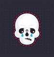 crying skull emoji vector image
