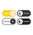day and night switch interface design for mobile vector image vector image