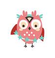 dizzy cartoon owl bird colorful character vector image vector image