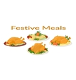 Festive Meals Set vector image