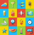 Flat modern design set icons of travel on holiday vector image
