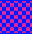 floral pattern on the blue background vector image vector image