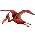 flying pterosaur vector image vector image