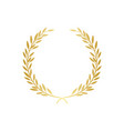 golden laurel or olive greek wreath vector image vector image