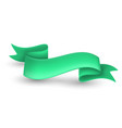 green ribbon banner vector image