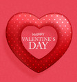 happy valentines day card with heart vector image vector image