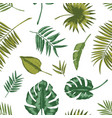 hawaiian seamless pattern with tropical foliage on vector image vector image