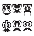 Hipster smiley set3 resize vector image vector image