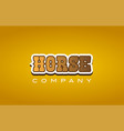 horse western style word text logo design icon vector image