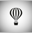 hot air balloon icon on isolated background vector image
