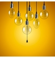Idea concept Light bulbs background vector image vector image