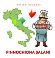 italian sausage vector image