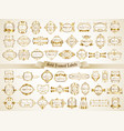 large collection of white gold-framed labels vector image vector image