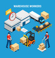 logistics isometric vector image
