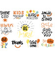 logo set with bible verse and christian quotes vector image vector image