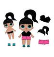 lol dolls print vector image vector image