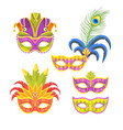 mardi gras colorful holiday mask vector image