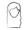monochrome blurred silhouette of faceless woman vector image