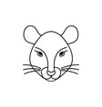 mouse icon in line art style vector image