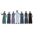 muslim family man with a harem in minimalist vector image vector image