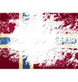 Norwegian flag Grunge background vector image vector image