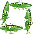 pea - funny cartoon vector image vector image