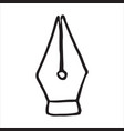 pen doodle icon vector image