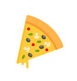 pizza slice icon isolated on white background vector image vector image