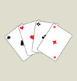 playing cards arch vector image vector image