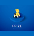 prize isometric icon isolated on color background vector image