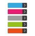 Rectangular empty buttons vector image vector image