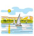 River Nile in Egypt vector image
