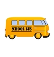 School Bus Icon Isolated on White Background vector image vector image
