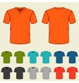 Set of colored t-shirts templates for men vector image vector image