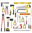 set of repair and woodwoork tools on a vector image vector image