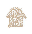 stay home safe logo calligraphy vector image vector image