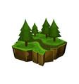 summer forest natural landscape fantastic island vector image vector image