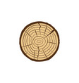 tree trunk cross section with growth rings vector image