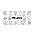 values concept banner or in vector image vector image