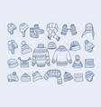 winter clothes xmas fashion hat mittens socks vector image vector image