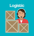 worker logistic service avatar vector image