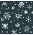 Seamless pattern with snowflakes vector image