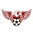 Heraldic eagle with ball vector image