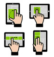 Touch Gestures vector image