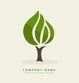 green tree design background vector image