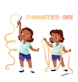 African american girl doing gymnastics vector image vector image