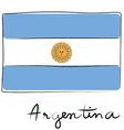 argentine flag doodle vector image vector image