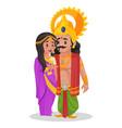 arjuna cartoon character vector image