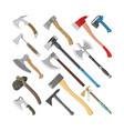 ax metal axe equipment with wooden handle vector image vector image