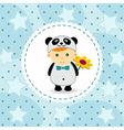 baby boy in suit of panda vector image vector image